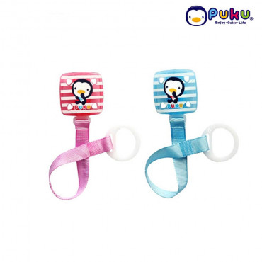 Puku Pacifier Chain 11114 (New Model ) Square Stripe