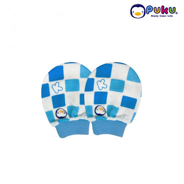 Puku Baby Mitten (circle puku head) 26022-Blue