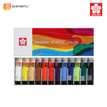 SAKURA Acrylic Color Set 12