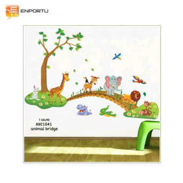 VENP Wall Sticker Transparant - Animal Bridge