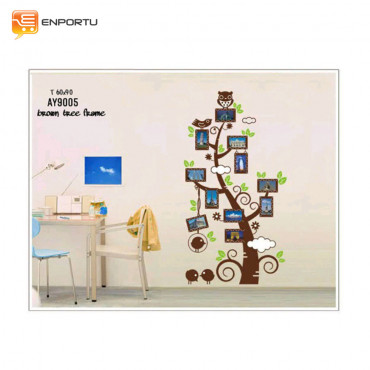 VENP Wall Sticker Transparant - Brown Tree Frame