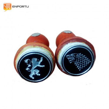 Jual Custom Sealing Wax Stamp (3 mm) with Wooden Holder + Design
