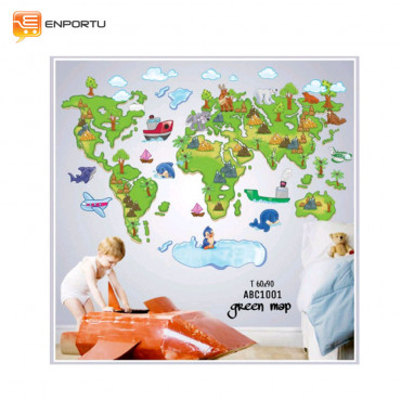 VENP Wall Sticker Transparant - Green Map