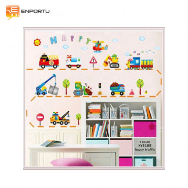 VENP Wall Sticker Transparant - Happy Traffic