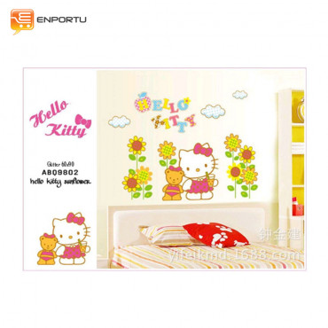 VENP Wall Sticker Transparant - Hello Kitty Sunflower