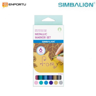 Simbalion Metallic Marker Set – 0.5mm DI-MT6/S