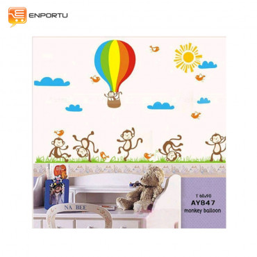 VENP Wall Sticker Transparant - Monkey Baloon