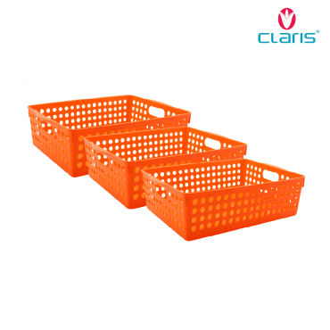 Claris Paket Tidy Mesh Large 0558 (Set 3 pcs) Orange