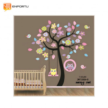 VENP Wall Sticker Transparant - Swing Owl