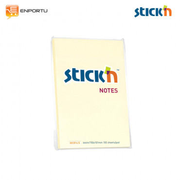 STICK'N Regular Notes Pastel Yellow Color 21014 (6x4 inch)
