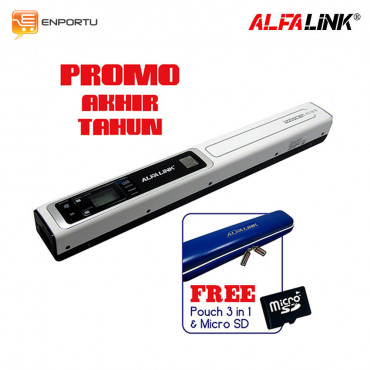 ALFALINK SCANNER AS-1212 Tanpa Docking + free Pouch Three in One