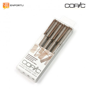 COPIC MULTILINER Brown 4pc/set