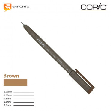 Jual Copic Multiliner Individual Brown 0.5mm