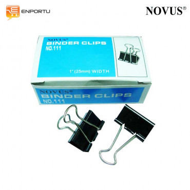 "Binder Clips NOVUS No. 111 (1"" = 25mm)"