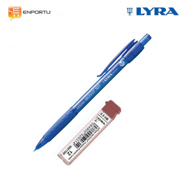 Paket Pencil Lyra 0.5 + Refill LYRA Leads Refill 0.5mm