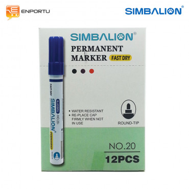 SIMBALION Spidol Permanent Blue - 1 Lusin