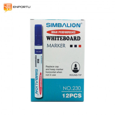 SIMBALION Spidol Whiteboard Blue - 1 Lusin